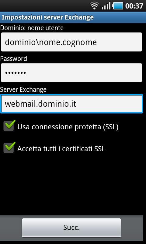 how to add dal email to android