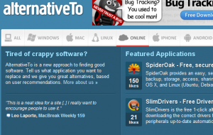 alternativeTo Home Page