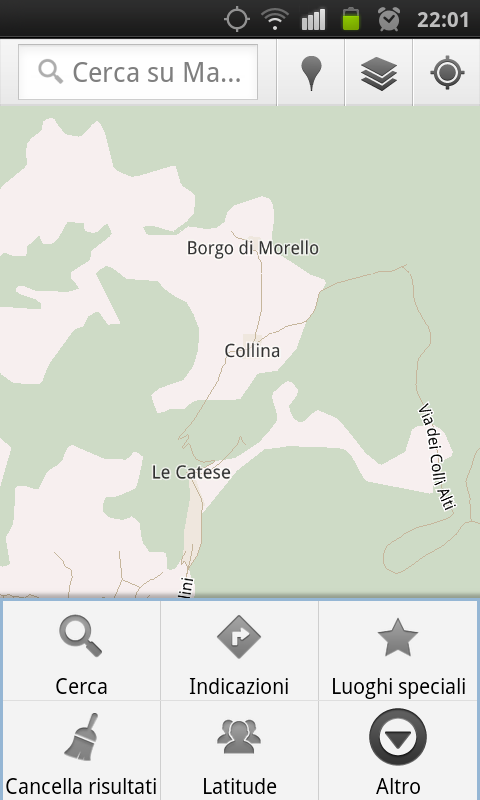 Mostra menu Google Maps