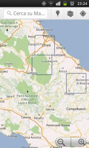 Mostra aree delle mappe offline di Google Maps
