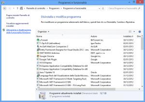 VMWare 9.0 - Selezionare: Attivazione o disattivazione delle funzionalità di Windows