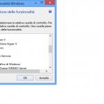 VMWare 9.0 - Deselezionare (per la rimozione) o selezionare (per l'installazione) la spunta: Hyper-V
